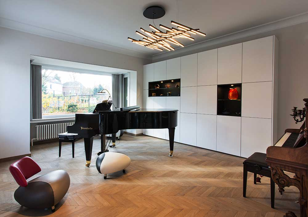 contemporary classic interior in Brussels