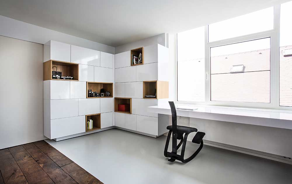Clean kitchen and home office